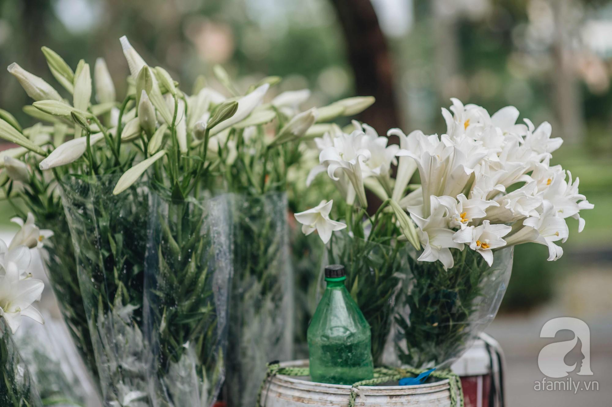 Tháng 4 về, Hà Nội lại dịu dàng những gánh loa kèn trắng tinh khôi, thơm nồng nàn khắp các góc phố-5