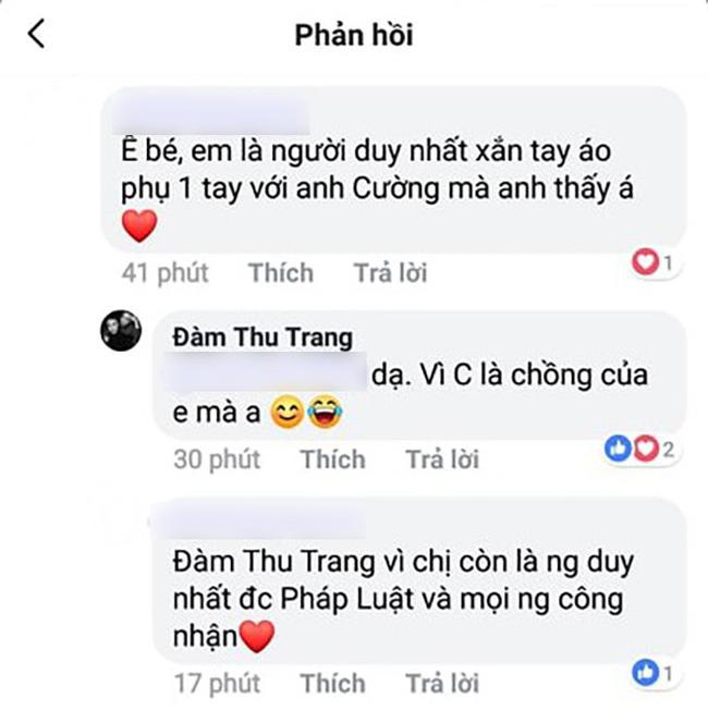 Được khen là người duy nhất xắn tay phụ giúp Cường Đô La, câu trả lời của Đàm Thu Trang khiến ai cũng ngưỡng mộ-1