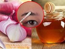 Cứ trộn hành tây với mật ong, lông mày lơ thơ đến mấy cũng rậm ngay sau 2 tuần