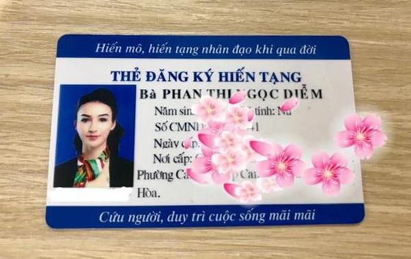 Hoa hậu Ngọc Diễm quyết định đăng ký hiến tạng-1
