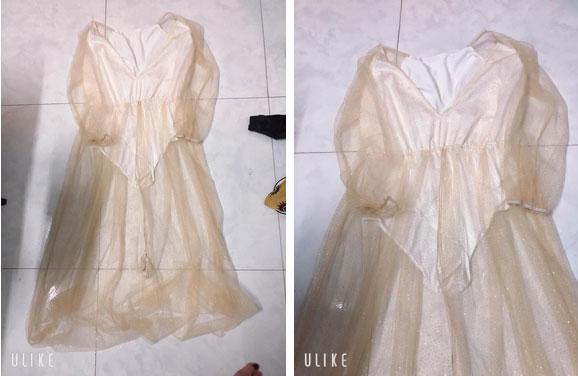 Đã tức vì đặt mua váy sang chảnh đi dự đám cưới, nhận về lưới đánh cá mỏng tang, cô nàng còn bị mắng vì...-2