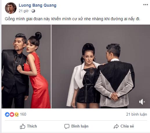 Vừa rủ nhau phẫu thuật thẩm mỹ, Lương Bằng Quang - Ngân 98 bất ngờ chia tay, chặn luôn Facebook và viết status phũ phàng?-2