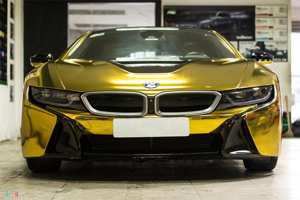 Ngắm BMW i8 mạ vàng của dân chơi Sài Gòn-1