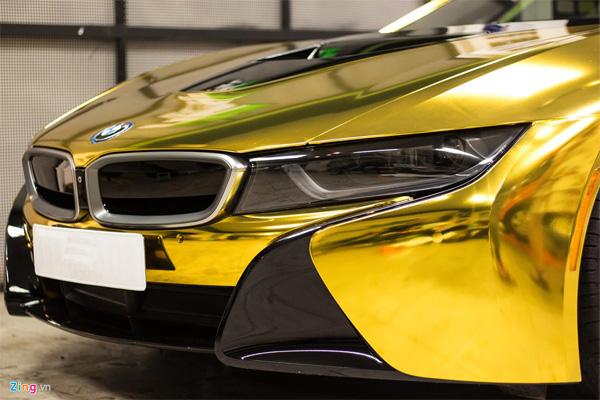 Ngắm BMW i8 mạ vàng của dân chơi Sài Gòn-2