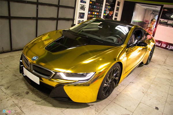 Ngắm BMW i8 mạ vàng của dân chơi Sài Gòn-4