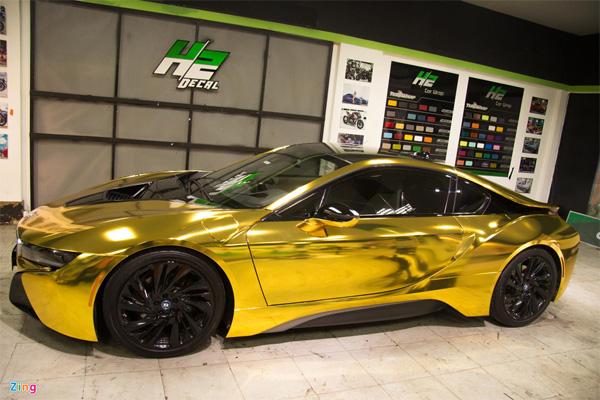 Ngắm BMW i8 mạ vàng của dân chơi Sài Gòn-5