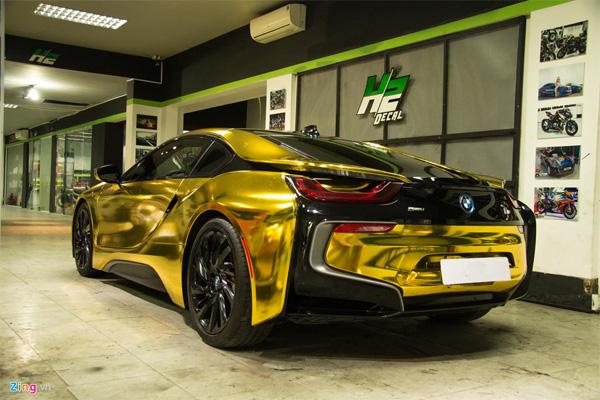 Ngắm BMW i8 mạ vàng của dân chơi Sài Gòn-6