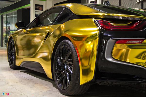 Ngắm BMW i8 mạ vàng của dân chơi Sài Gòn-7