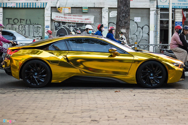 Ngắm BMW i8 mạ vàng của dân chơi Sài Gòn-8
