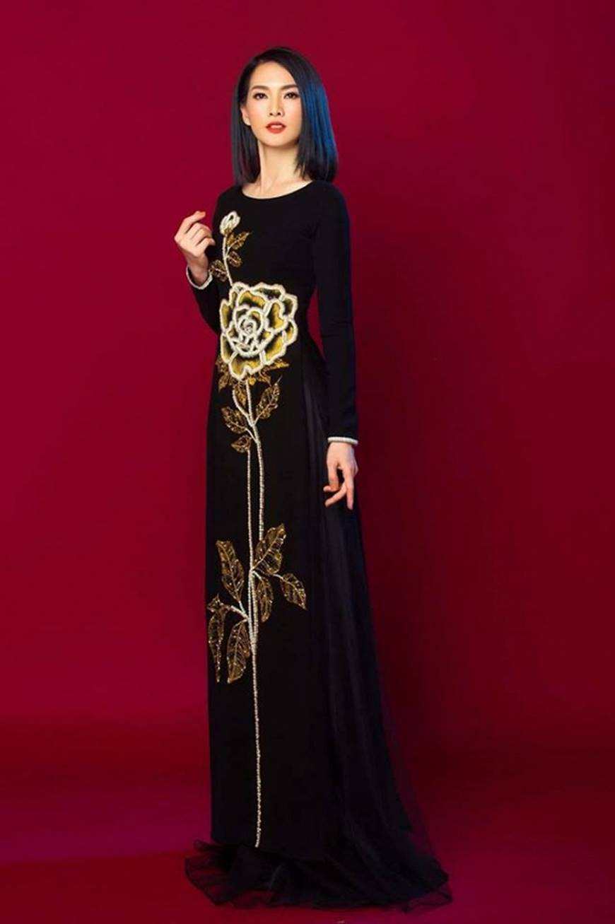 Anh Thư kín đáo, sang trọng với loạt thiết kế áo dài quyền quý-3