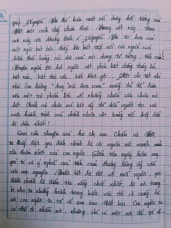 Bài văn 9.5 điểm xuất sắc từ nội dung đến chữ viết, khiến giáo viên bất lực khi viết lời phê-14