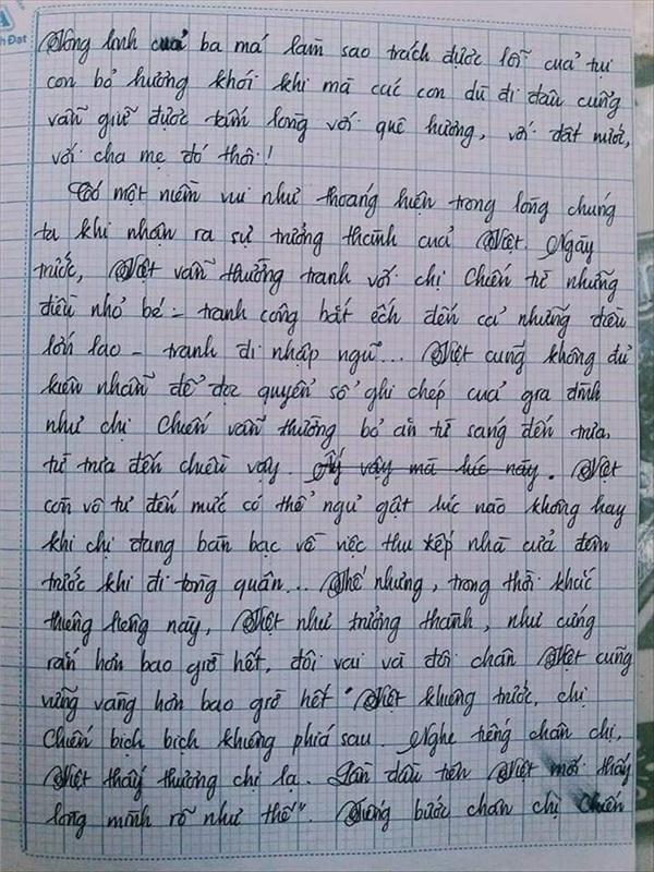 Bài văn 9.5 điểm xuất sắc từ nội dung đến chữ viết, khiến giáo viên bất lực khi viết lời phê-7