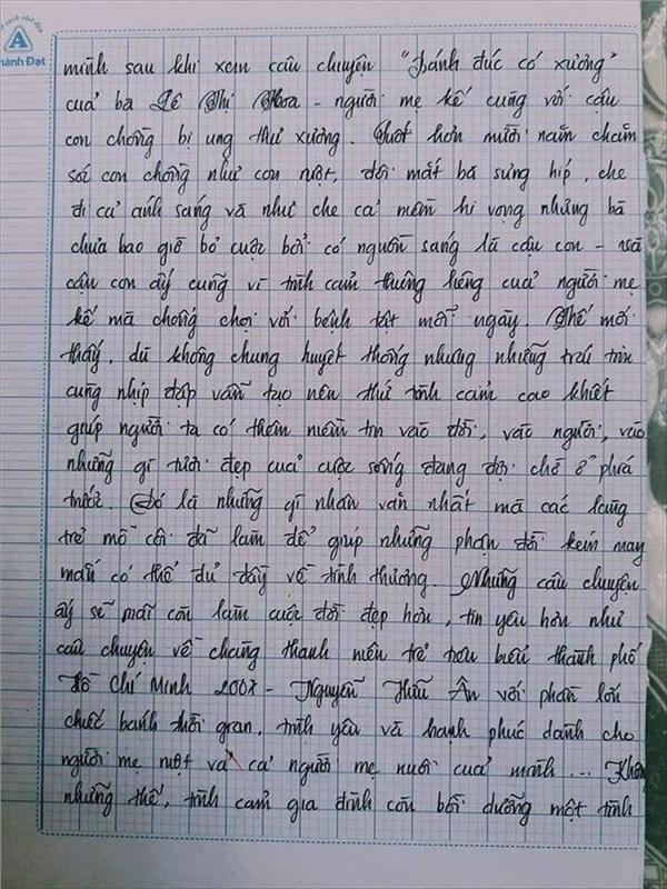Bài văn 9.5 điểm xuất sắc từ nội dung đến chữ viết, khiến giáo viên bất lực khi viết lời phê-16