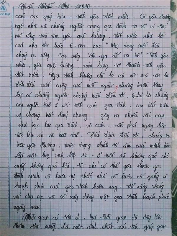 Bài văn 9.5 điểm xuất sắc từ nội dung đến chữ viết, khiến giáo viên bất lực khi viết lời phê-17