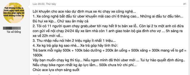 """Tài xế chạy taxi công nghệ phơi bày thực tế khắc nghiệt: Ngày kiếm 1 triệu đồng nhưng chi phí lên tới 1,3 triệu, ai vào sau đều ăn mày cả""""-2"""