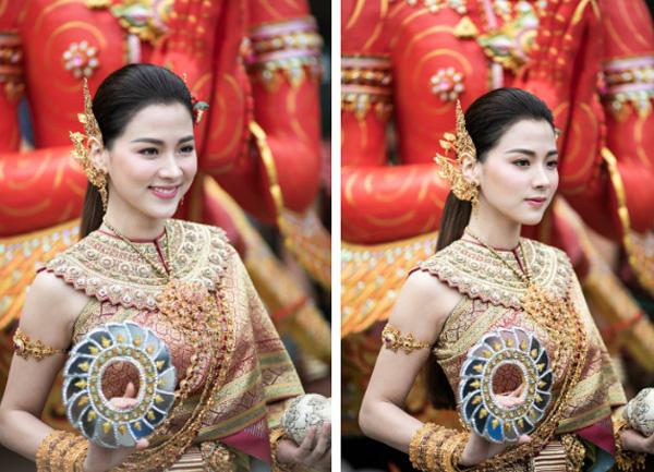 Dân tình náo loạn với nhan sắc cực phẩm của nữ thần Thungsa trong lễ Songkran 2019 tại Thái Lan-1