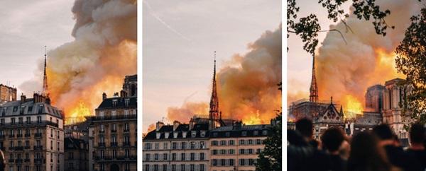 Những hình ảnh thảm khốc khi ngọn lửa lớn tàn phá Nhà thờ Đức Bà Paris tối 15/4-13