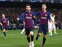 Messi lập cú đúp tiễn MU rời Champions League