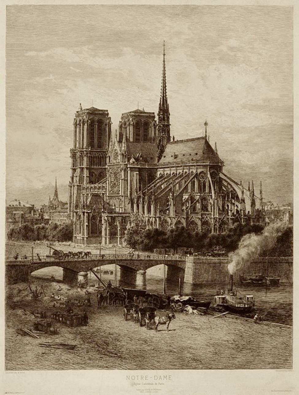 Ngắm lại Nhà thờ Đức Bà Paris, trái tim của nước Pháp trước khi chìm trong biển lửa-6