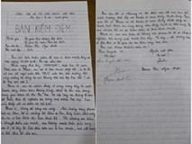 Lần đầu đi học muộn, nữ sinh chuyên Văn viết bản kiểm điểm 2 mặt giấy đầy tự sự và biểu cảm