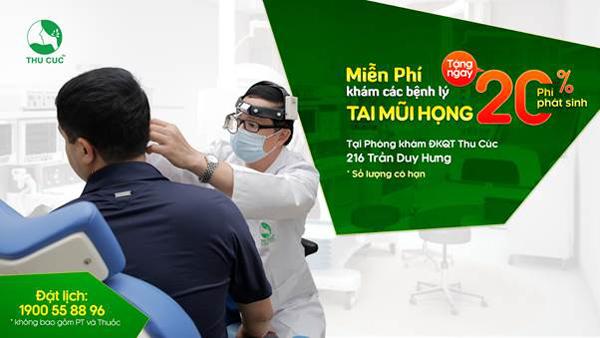 Miễn phí khám tai mũi họng ở Phòng khám ĐKQT Thu Cúc-3