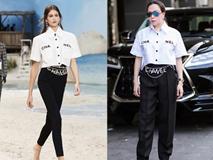 Phượng Chanel đụng hàng áo 50 triệu đồng với con gái Cindy Crawford