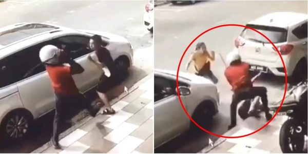 Vợ dũng cảm lao ra bảo vệ chồng khỏi kẻ biến thái tấn công bằng dao rựa giữa đường-1