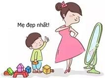 Bộ tranh cho thấy các mẹ nghĩ rằng mình yêu con nhất, nhưng không ngờ rằng bé còn yêu mẹ nhiều hơn thế