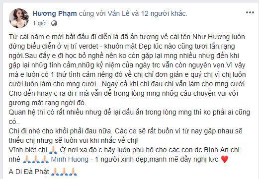 Sao Việt xót xa đau đớn trước thông tin người mẫu Như Hương qua đời ở tuổi 37 vì ung thư-4