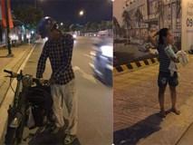 Người cha vừa đi vừa khóc trên đường và việc làm được tán thưởng của cô gái lạ mặt
