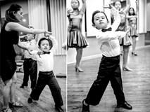 Bé Kubi nhà Khánh Thi - Phan Hiển lần đầu diện trang phục dancesport, nhảy như vũ công chuyên nghiệp bên mẹ