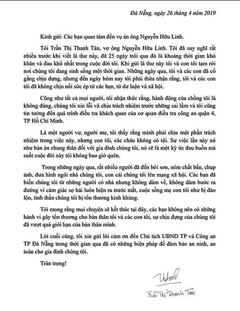 (NÓNG) Nguyễn Hữu Linh sàm sỡ bé gái: Vợ gửi tâm thư đau đớn-2