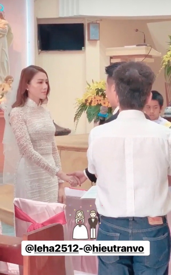 Một năm sau khi sinh con gái đầu lòng, Lê Hà (The Face) và ông xã điển trai như tài tử tổ chức đám cưới-2