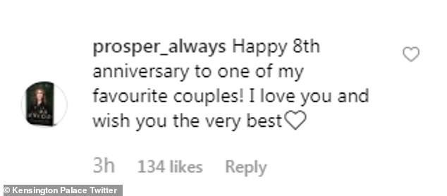 """Cung điện hoàng gia Anh đăng ảnh kỷ niệm 8 năm kết hôn của vợ chồng Công nương Kate nhưng bình luận của người hâm mộ mới khiến cặp đôi này run rẩy""""-3"""