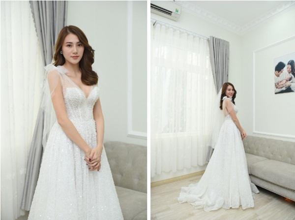 Ngắm bộ váy cưới Lọ Lem trị giá 400 triệu của Lê Hà, nhưng dân tình lại mê mẩn bộ váy trắng của công chúa tí hon bên cạnh cô-5