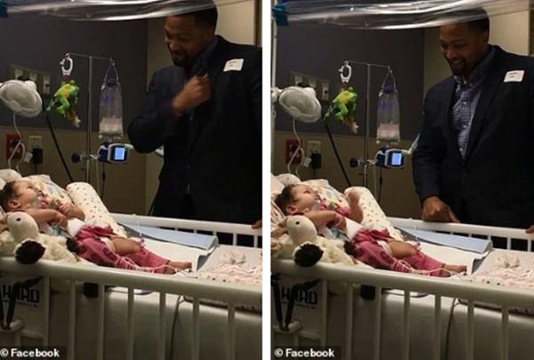 Đoạn video gây xúc động vì hành động của người cha với con gái bại liệt, bất ngờ nhất là phản ứng của cô bé-1