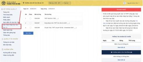 Cách thức xác nhận nhập học trực tuyến vào lớp 10 tại Hà Nội-2
