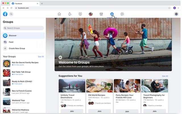 Facebook ra mắt giao diện hoàn toàn mới trên nền web và ứng dụng di động-2