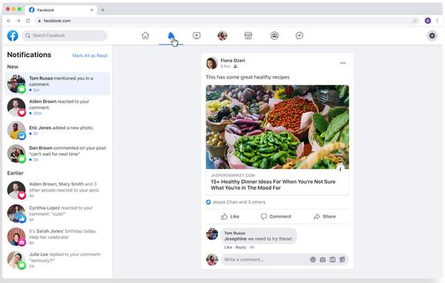 Facebook ra mắt giao diện hoàn toàn mới trên nền web và ứng dụng di động-5