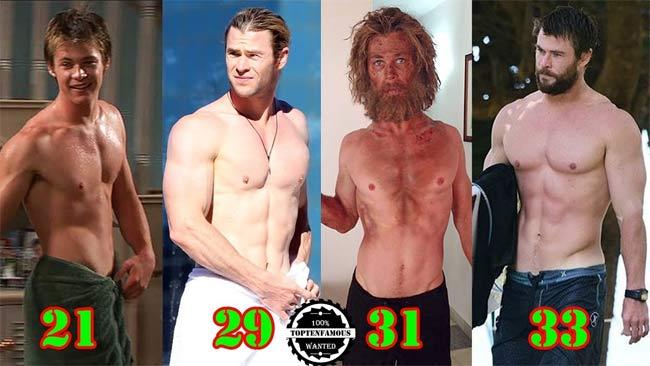 3 body hoàn mỹ nhất Avengers: Thần Sấm Thor từ gầy như quỷ đói lột xác cường tráng-1