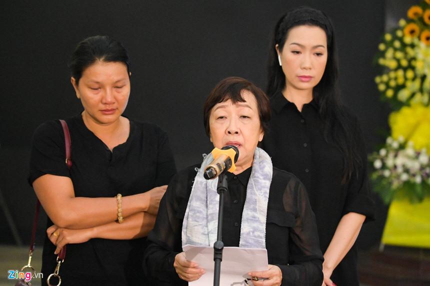 Nghệ sĩ Việt bật khóc khi nghe điếu văn trước giờ đưa tiễn Lê Bình-4