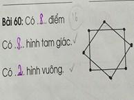 Bài toán tiểu học tìm số điểm trong hình vẽ gây tranh cãi