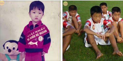 Cười đổ ghế với loạt ảnh thơ ấu mới hé lộ của dàn cầu thủ Việt: Đức Huy chất từ bé, bất ngờ nhất là Lâm Tây-5