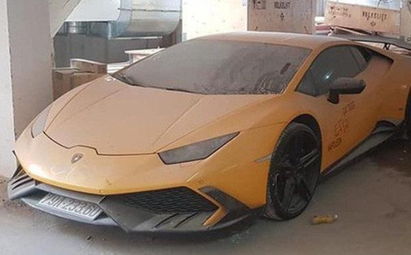 Xót xa siêu xe Lamborghini Huracan độ Mansory của đại gia Nha Trang nằm phủ bụi kín đặc-1