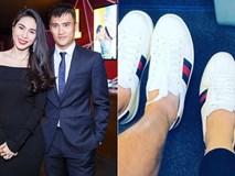 """Giữa tin đồn hôn nhân trục trặc, Thủy Tiên chứng minh tình cảm ngọt ngào với Công Vinh khi cùng diện giày đôi """"đi khắp thế gian""""?"""