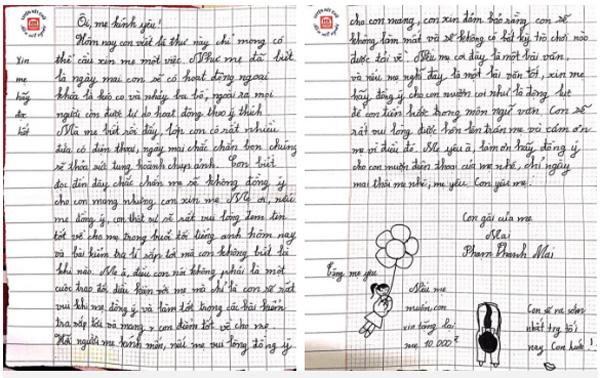Muốn mượn điện thoại thông minh của mẹ mang đến trường, cô bé lớp 7 viết tâm thư thống thiết: Xin mẹ hãy đọc hết!-1