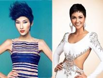 Hoàng Thuỳ cắt tóc ngắn giống H'Hen Niê trước thềm Miss Universe 2019?