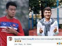 Cầu thủ Thành Chung tag Hà Đức Chinh rồi