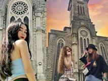 Instagram giới trẻ tràn ngập những bức ảnh chụp với nhà thờ Núi, ở ngay Nha Trang mà đẹp tuyệt chẳng kém trời Tây