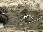 Tài xế rơi khỏi thùng xe ben, bị cát vùi lấp đến tử vong-1